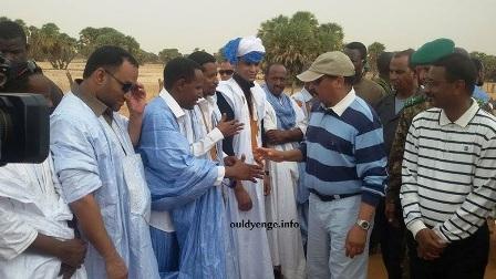 ولد عبد العزبز في زيارة سابقة لولاية كيدي ماغا