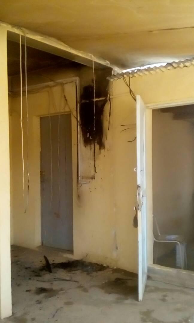 صورة مسجد المستوصف المحترق